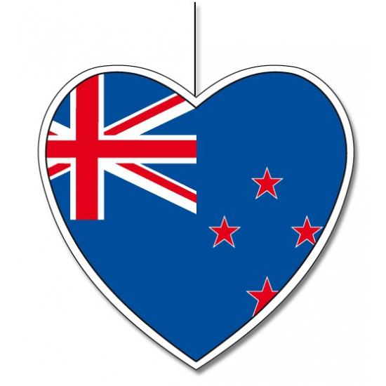 Papieren decoratie hart Nieuw Zeeland 30 cm