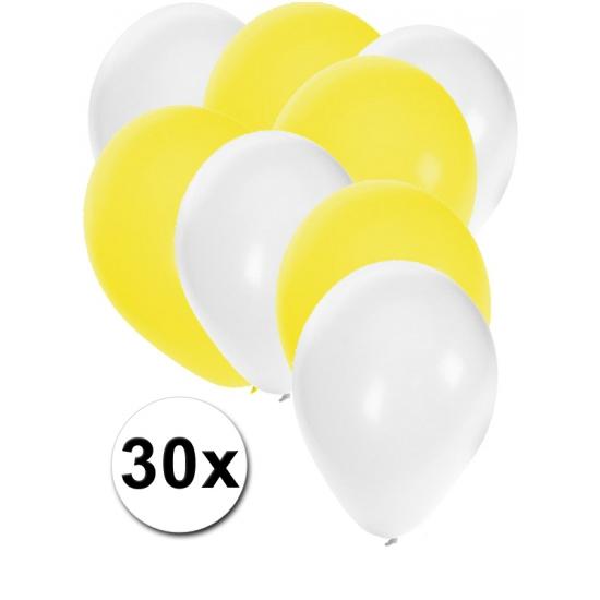 Party ballonnen wit en geel