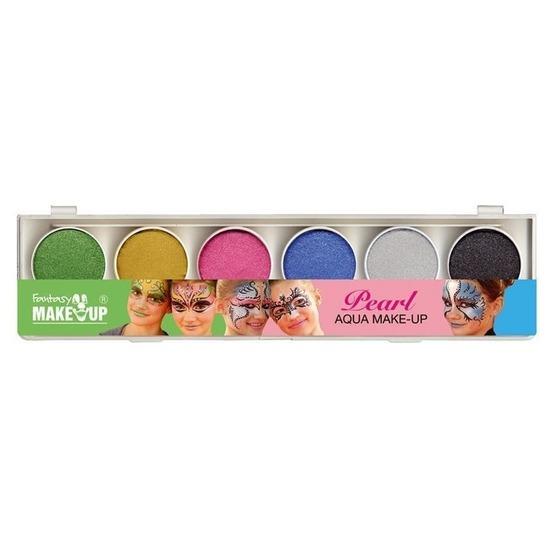 Schmink set glitter make-up 6 kleuren
