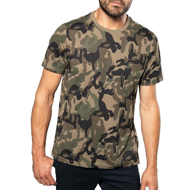 Soldaten-leger verkleedkleding camouflage shirt heren