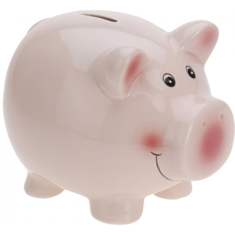 Spaarvarken roze 9 cm