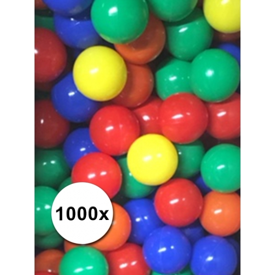 Speelballen voor de ballenbak 1000 stuks