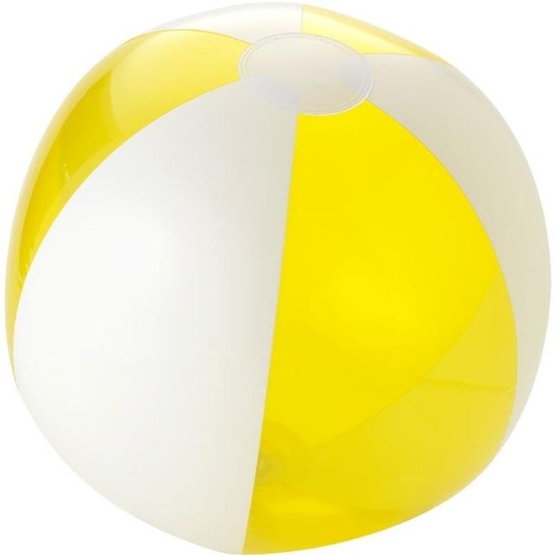 Strandbal opblaasbaar geel