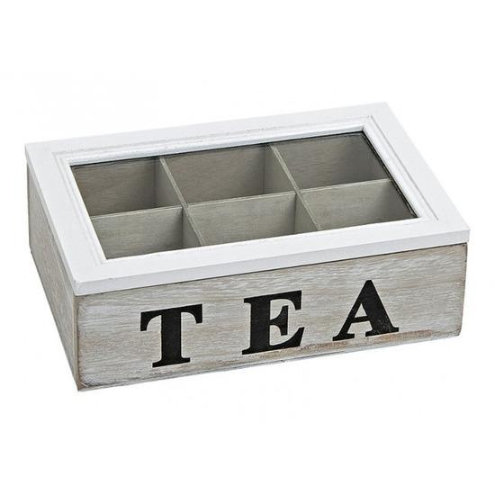 Theedoos 6 vaks white wash Tea