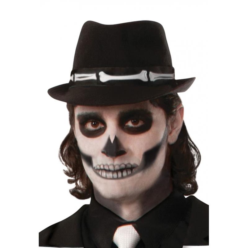 Verkleed fedora hoedje met botten
