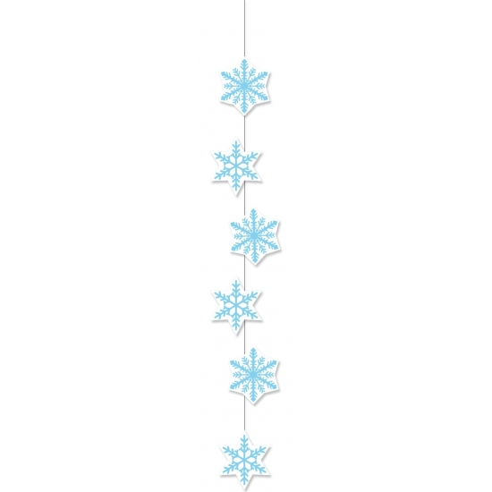 Winter sneeuwvlok slinger 108 cm winkelruit decoratie