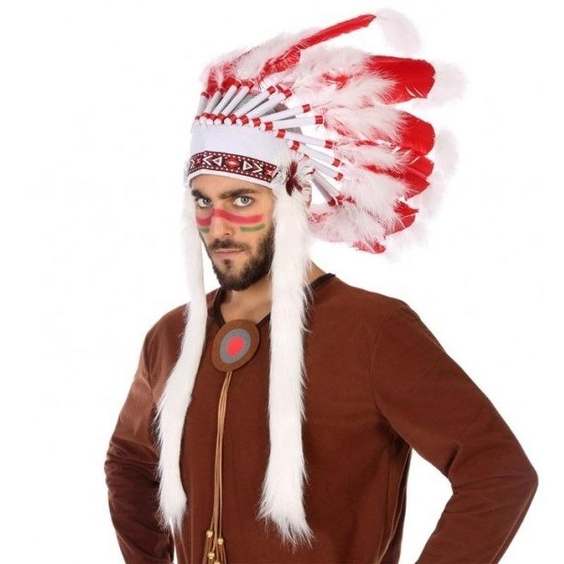 Wit-rode luxe indianen tooi voor heren