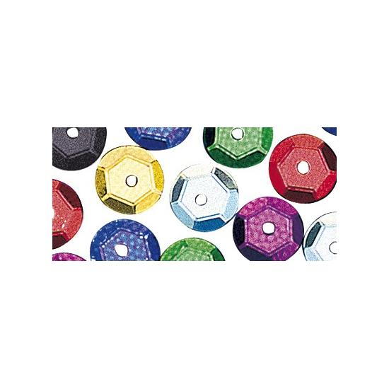 Zakje gekleurde pailletten 6 mm