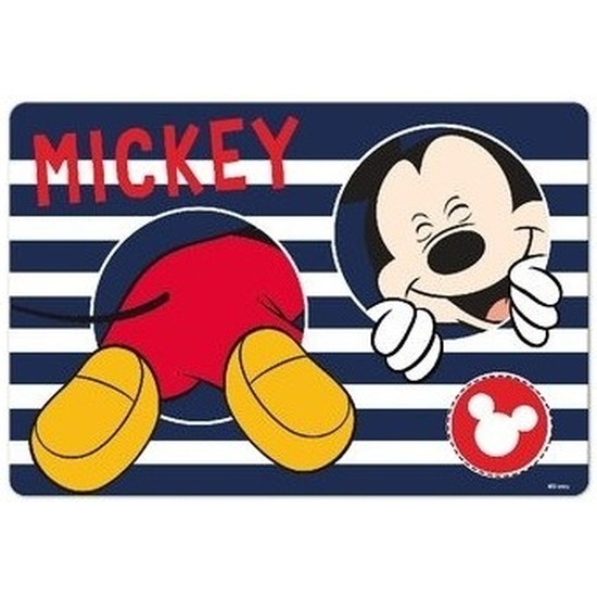 3D placemat Disney Mickey Mouse blauw 42 x 28 cm